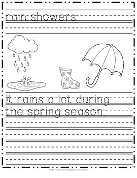 April Writing Practice - Celebrating Spring and Earth Day