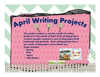 April Writing Projects