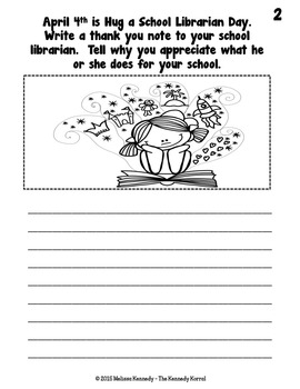 April Writing Prompts {21 Writing Prompts & Pictures to Color}