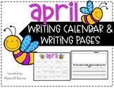 April Writing Prompt and Calendar