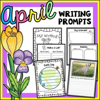 April Writing Prompts | April Writing Center Activities | Writing Journal