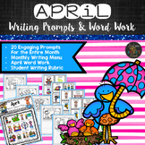 April Writing Prompts, Daily 5, Work on Writing Activities