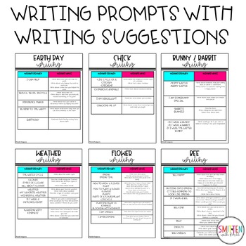 April Writing Prompts | Earth Day | Spring Writing | Insects