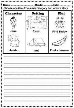 Spring Activities, April Writing Prompts Grade1 to 5