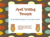 April Writing Prompts- for Intermediate Grades!