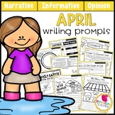 April Writing Prompts   Real-World and Draw & Write Format