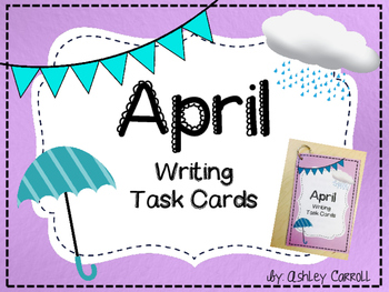 April Writing Task Cards