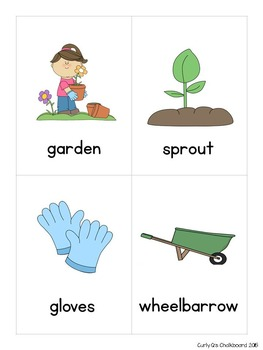 April Writing Topic Cards, Word Work, Story Starter Vocabulary Cards