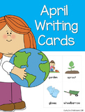 April Writing Topic Cards, Word Work, Story Starter Vocabu