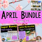 April and Easter Bundle: Math, SS, and ELA Activities for