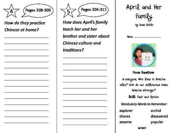 April and Her Family Trifold - Imagine It 2nd Grade Unit 6 Week 1