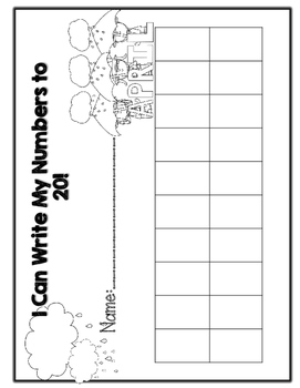 April and May Monthly Themed Number Writing Grids!