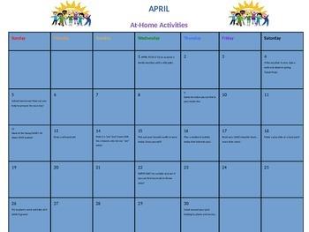 April at-home activities