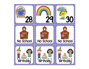 April calendar days