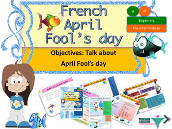 April fools' day in French Bundle (powerpoint, booklet)
