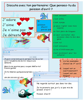 French April fools' day booklet for beginners