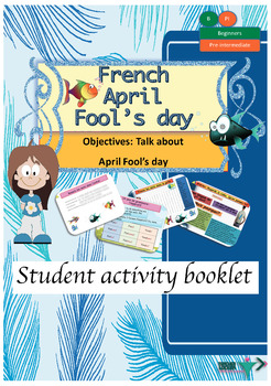 April fools' day in French booklet for beginners