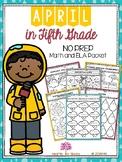 April in Fifth Grade (NO PREP Math and ELA Packet)