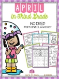 April in Third Grade (NO PREP Math and ELA Packet) - Dista