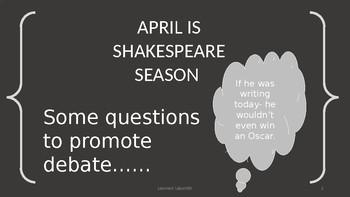 April is Shakespeare Season