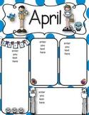 April newsletters freebie
