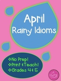April rain-themed idioms Figurative Language