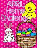 April's EDITABLE Homework Challenge Board
