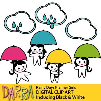 april shower clip art rainy days cloud umbrella girl weather rh teacherspayteachers com april pictures clipart