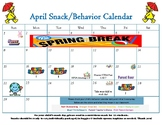 April snack calendar-editable