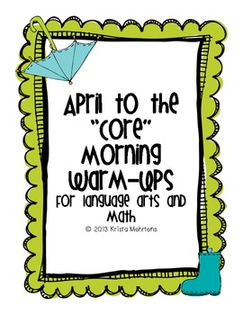"""April to the """"Core"""" Morning Warm-Ups"""