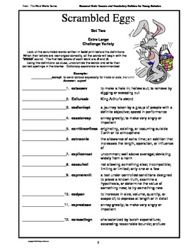 April/Easter  Brain Teasers and Vocabulary Builders