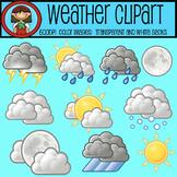 WEATHER CLIP ART Sun Moon Clouds Rain Snow &More!