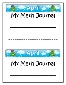 April~Math Journal with Common Core