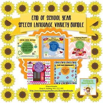 End of the School Year Speech/Language Bundle