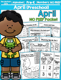 April NO PREP Packet (Preschool) Distance Learning