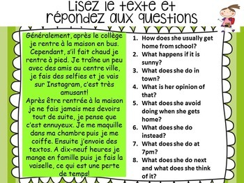 French, Hobbies: Presentations