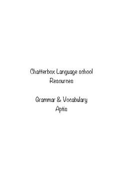 Aptis Grammar and Vocabulary test
