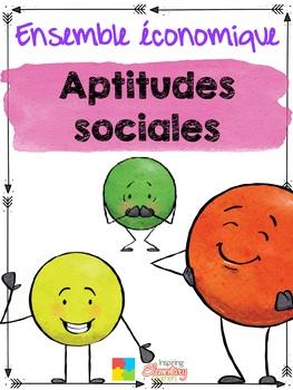 Aptitudes sociales - French Social Skills BUNDLE Maternelle -2e année