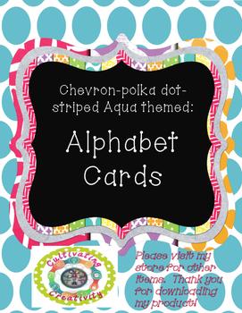 Aqua Alphabet Cards