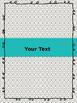 Aqua, Black and Gray Binder Set (editable)