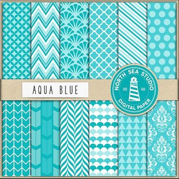 picture about Printable Backgrounds known as Aqua Blue Electronic Paper Pack Sbook Paper Printable Backgrounds