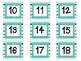 Aqua, Blue, and Green Calendar Numbers set 2