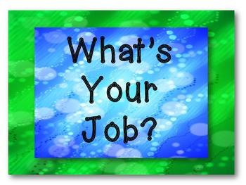 Aqua, Blue, and Green Jobs Display