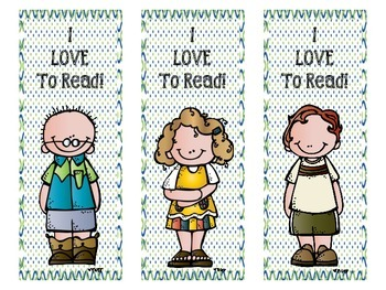 Aqua, Blue, and Green Melonheadz Reading Bookmarks