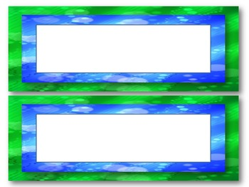 Aqua, Blue, and Green Nametags
