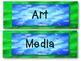 Aqua, Blue, and Green Schedule Cards