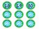 Aqua, Blue, and Green Student Number Circles