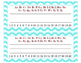 Aqua Chevron Classroom Decor Set