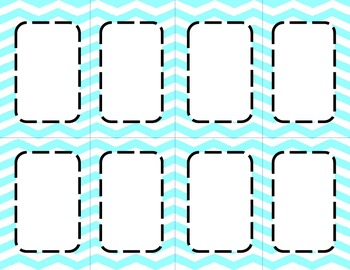 Aqua Chevron Classroom Labels and Tags