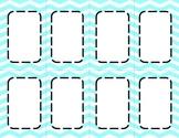 Aqua Chevron Classroom Labels and Tags